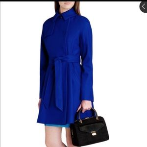Ted Baker full skirt Royal Blue trench coat